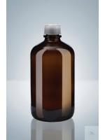 Бутылка для диспенсеров из коричневого стекла, 2500 мл, GL 45, круглая, с винтовой крышкой, Hirschmann (Кат № 9315200)