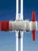Кран одноходовой, с ключом PTFE, отверстие 2,5 мм, NS 14,5, боковая часть 9 мм (Кат. 286413408)