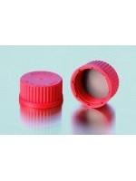 Винтовые крышки из PBT, термостойкость до 180 оС, GL 25, красный (Кат. 292401305)