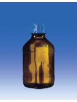 Бутылка для диспенсеров из коричневого стекла, 100 мл, GL 28, круглая, с винтовой крышкой, Vitlab (Кат № 1671505)